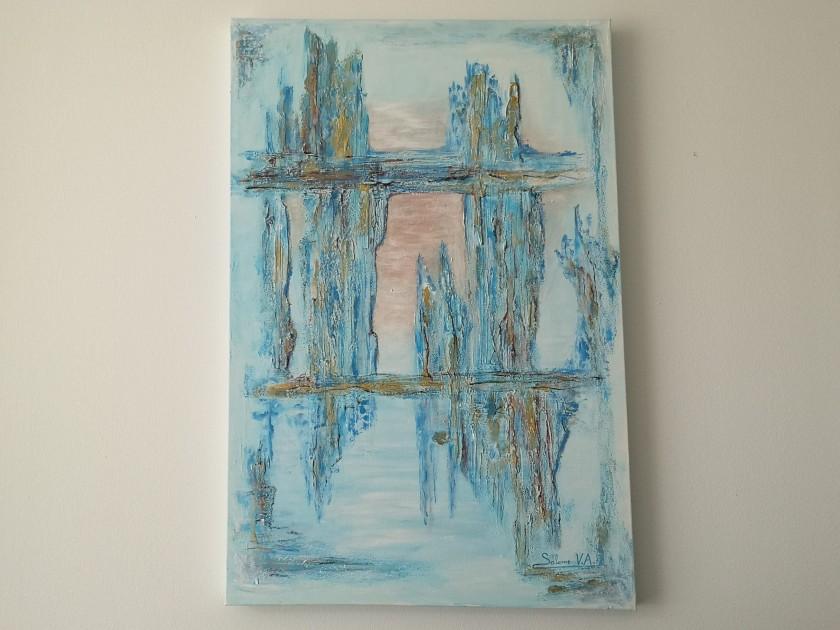 Cuadro abstracto con relieve #creativesalo